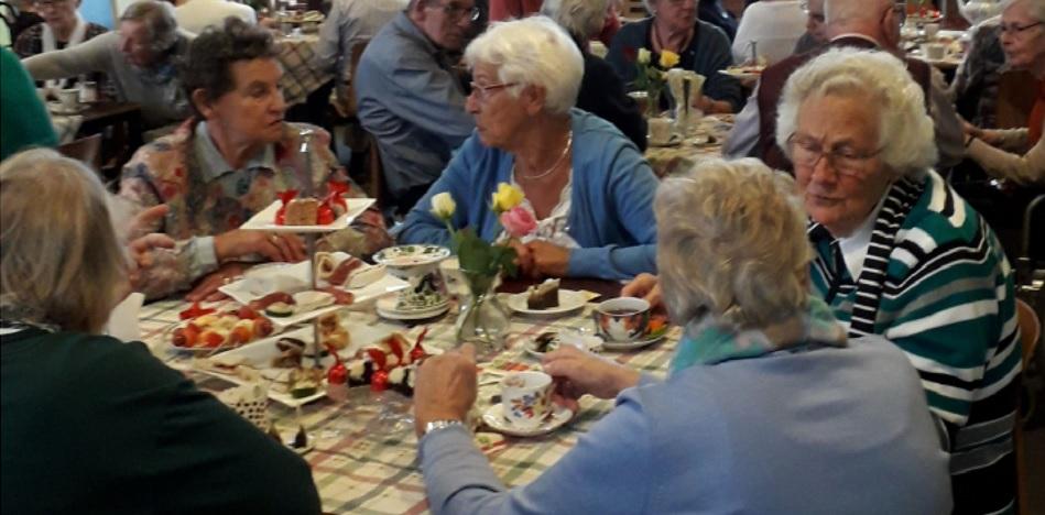 High Tea voor oudere gemeenteleden.